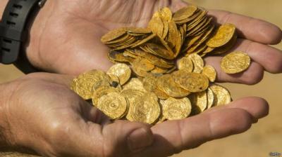 Израильские дайверы нашли клад золотых монет