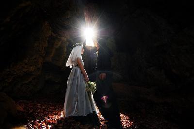 Свадьба дайверов в пещере